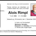 Alois-Rimpl-Traueranzeige