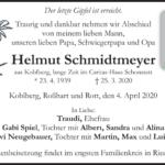 Helmut-Schmidtmeyer-Traueranzeige