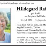 Hildegard-Raffler-Traueranzeige