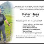 Peter-Haas-Traueranzeige