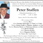 Peter-Staffen-Traueranzeige